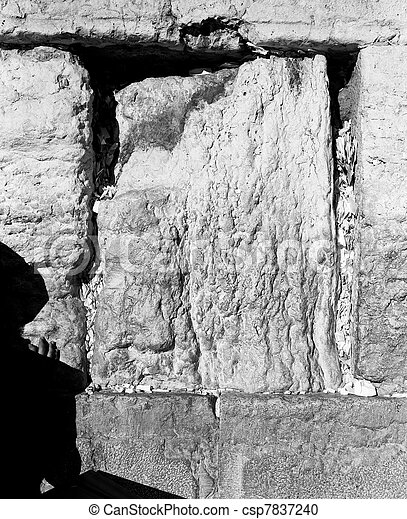 One Hand On The Western Wall - csp7837240