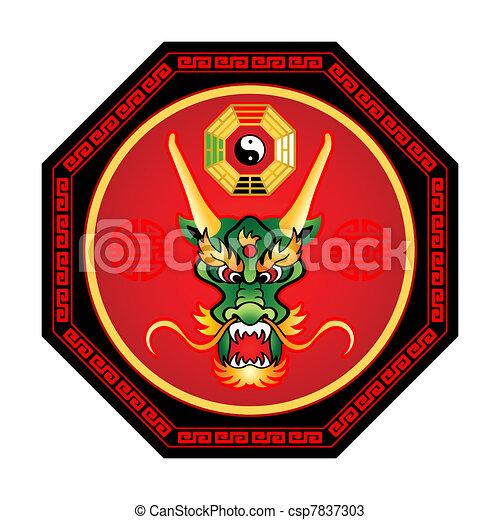 Feng Shui dragon - csp7837303