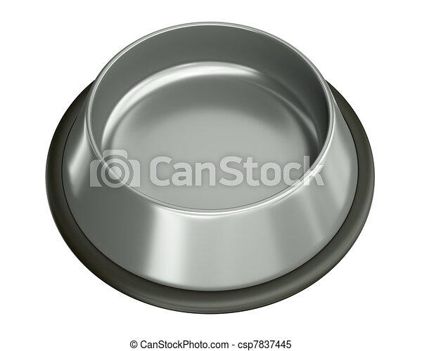 Silver bowl - csp7837445