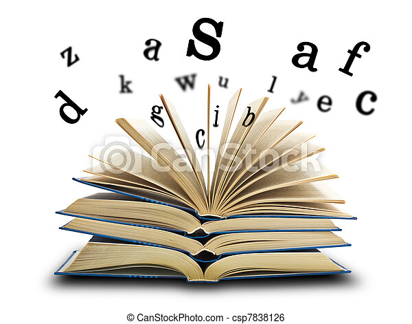 The book and the letters - csp7838126