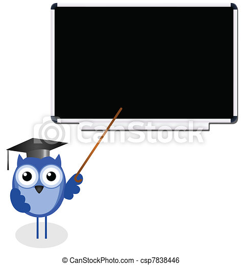 Owl teacher - csp7838446