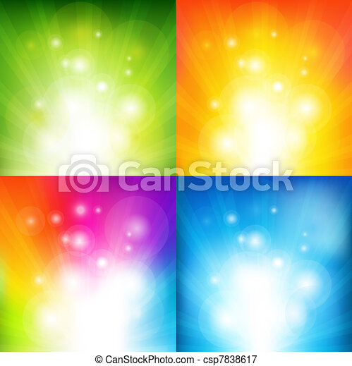 Color Backgrounds With Beams - csp7838617