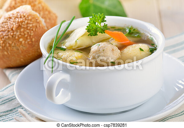 Delicious wedding soup - csp7839281