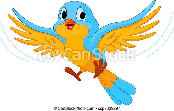 Flying bird - csp7839297