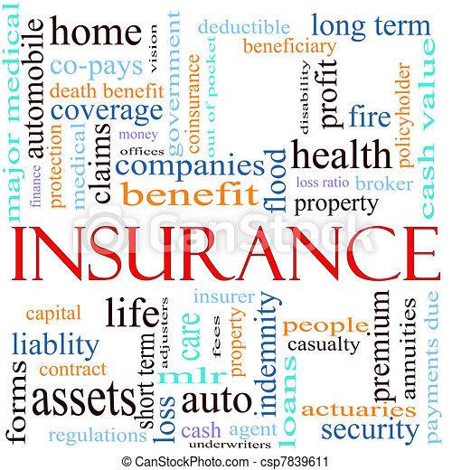 Insurance Word Concept Illustration - csp7839611