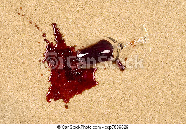 Spilled wine on carpet - csp7839629
