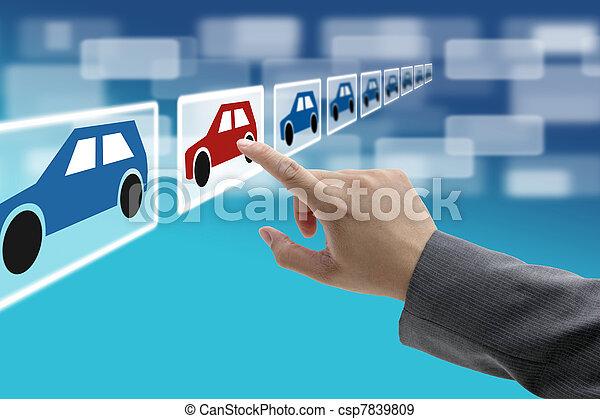 electronic commerce car showroom - csp7839809