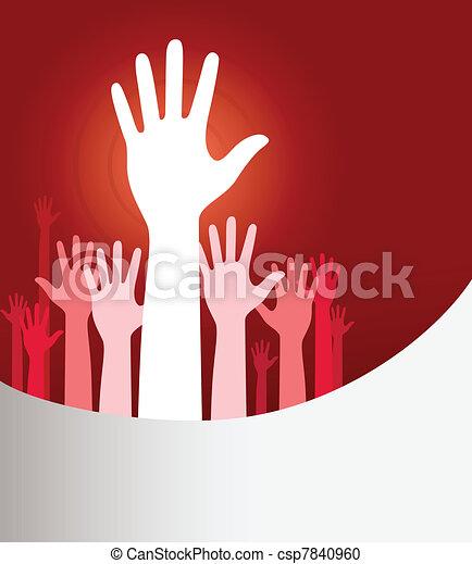 Raised hands - csp7840960