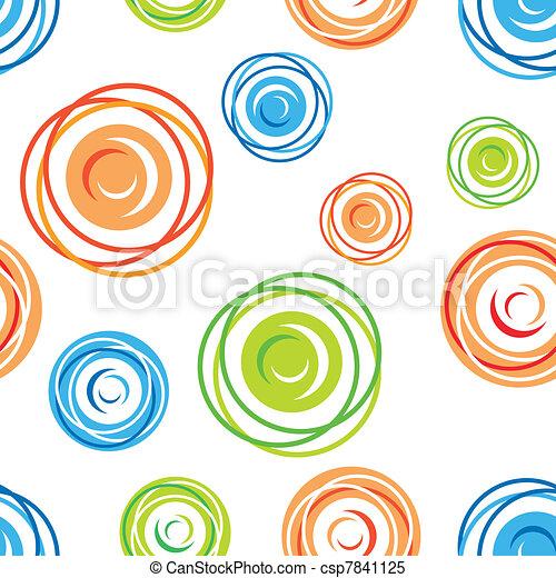 Seamless tangles pattern - csp7841125