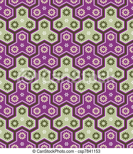 Classic japanese seamless pattern - csp7841153