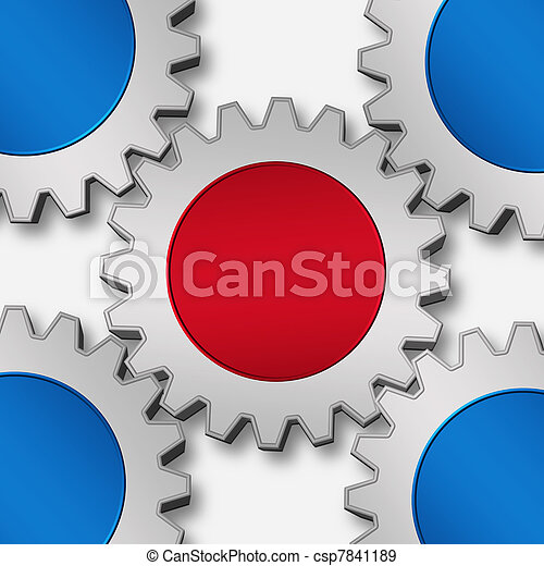gears working together - csp7841189