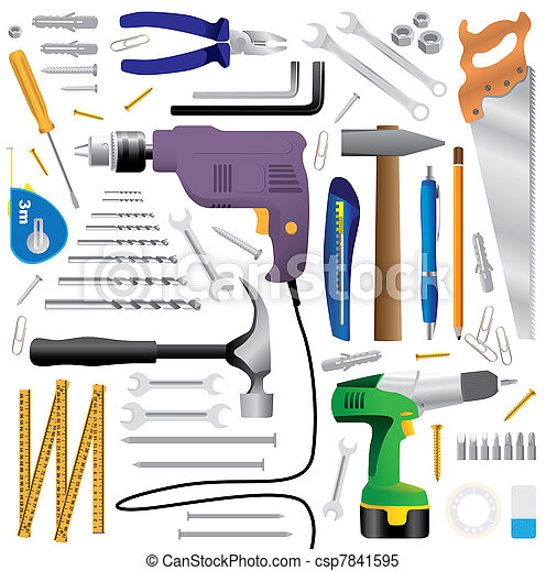 dyi tool equipment - realistic illustration - csp7841595