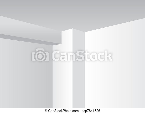 Perspective light room, corner detail - illustration - csp7841826