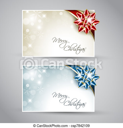 Set of vector christmas / New Year cards - csp7842109