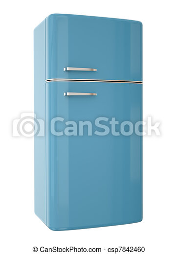 illustration de bleu frigidaire blue refrigerator 3d render csp7842460 recherchez des. Black Bedroom Furniture Sets. Home Design Ideas