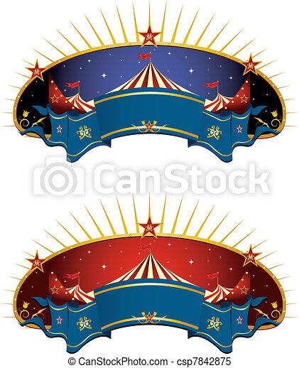 circus banners - csp7842875