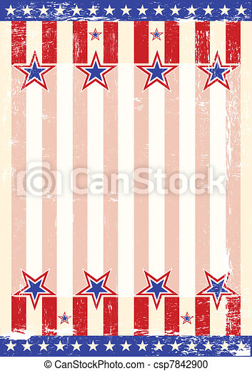 damaged american background - csp7842900