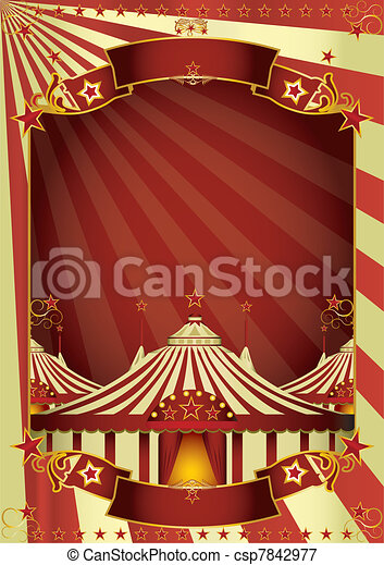 Nice circus big top - csp7842977