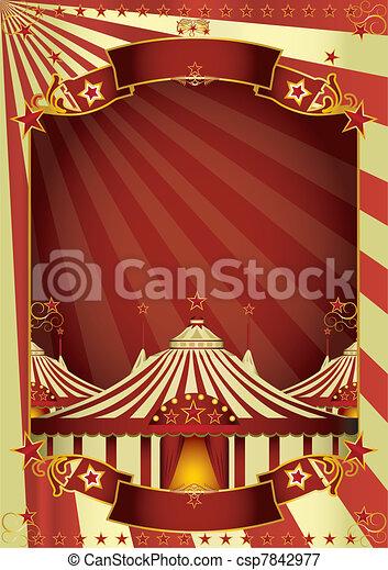 Nice circus big top - csp7842977