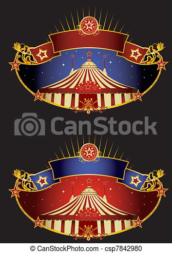 Night circus banners - csp7842980