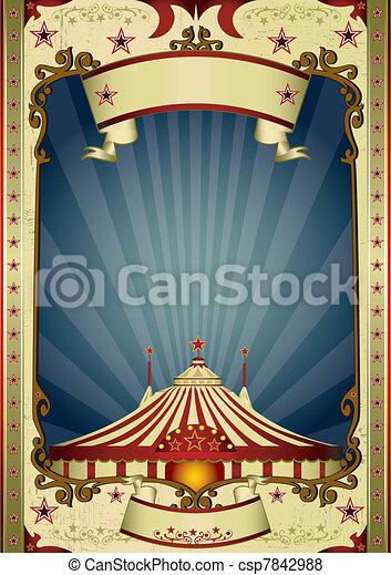 night retro circus big top - csp7842988