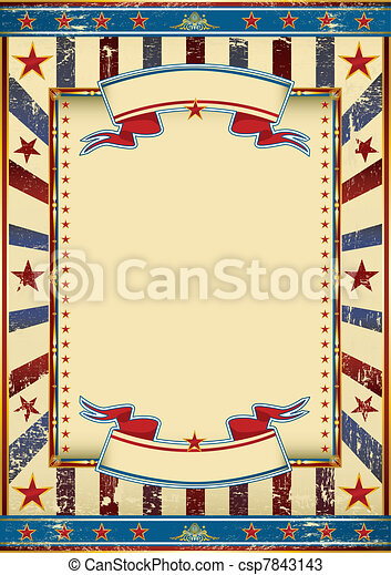 Vintage US poster - csp7843143
