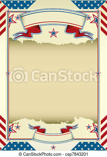 nice american background - csp7843201