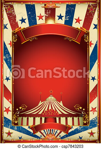Nice vintage circus background - csp7843203