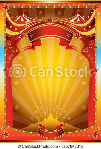 multicolor circus poster - csp7843313