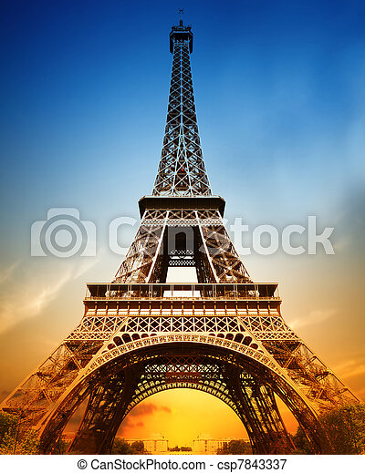 The majestic Eiffel tower - csp7843337