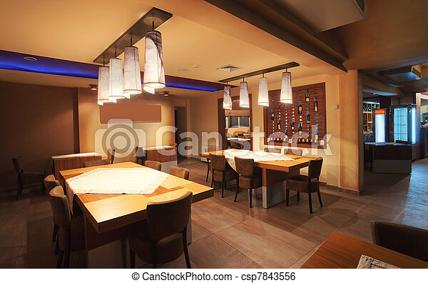 Restaurant interior - csp7843556