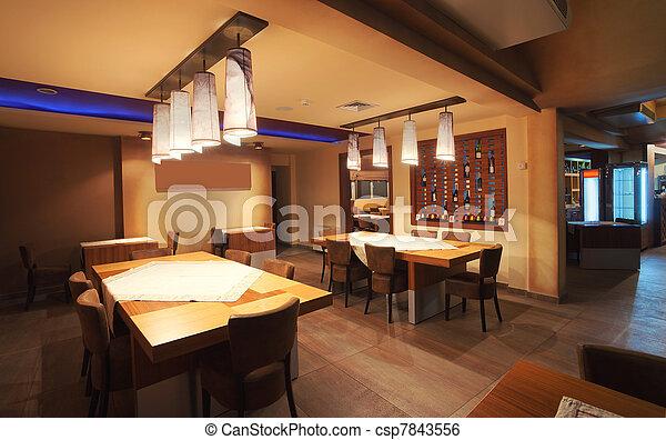 Restaurant interior  - csp7843556