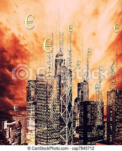 Financial crisis concept - csp7843712
