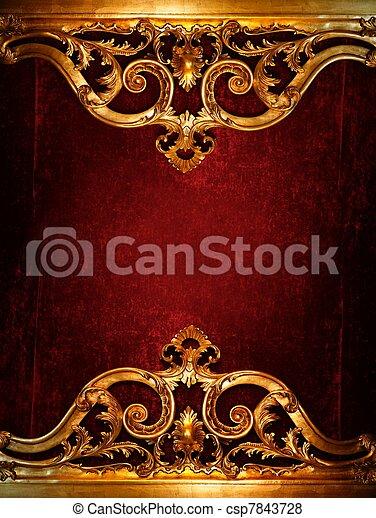 Vintage luxury decoration - csp7843728