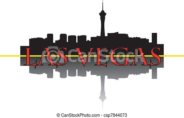 Las Vegas skyline - csp7844073