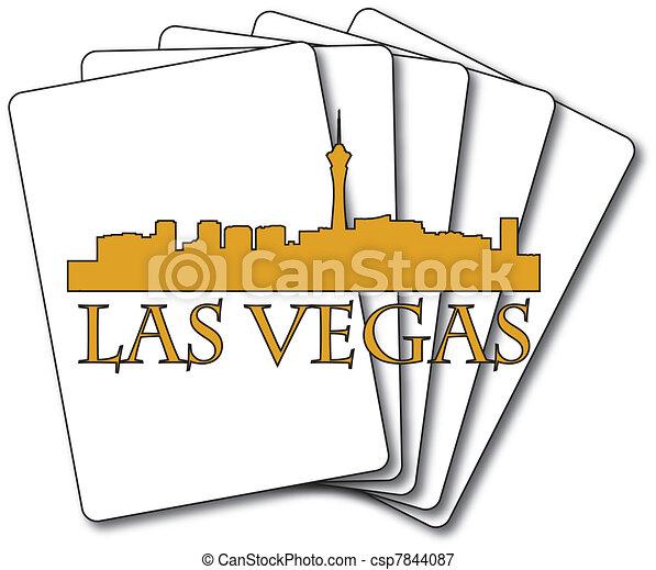 Las Vegas cards - csp7844087