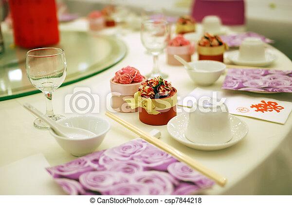Wedding table - csp7844218