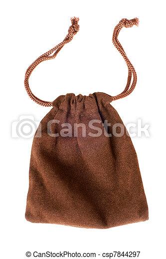 Brown pouch - csp7844297