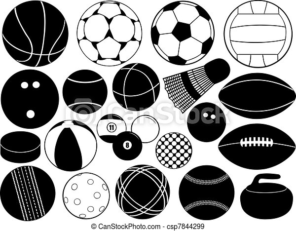 Different game balls - csp7844299
