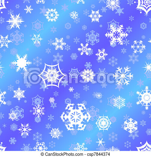 Repeating vector snowflake backgrou - csp7844374