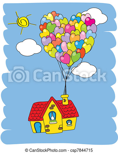 99 ideas Dibujo De Casa Con Globos on emergingartspdxcom