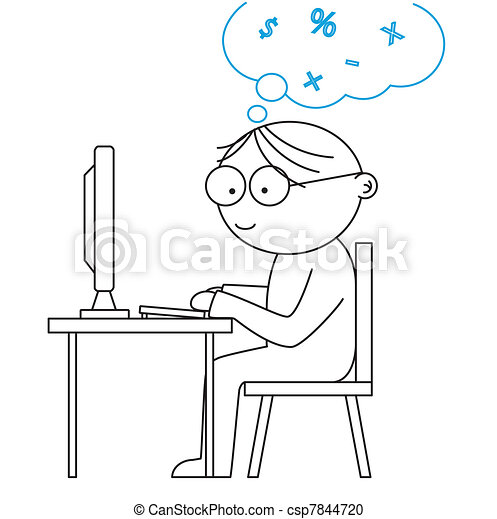 man working with a computer - csp7844720
