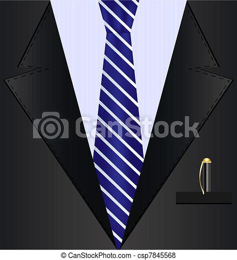 background black suit - csp7845568