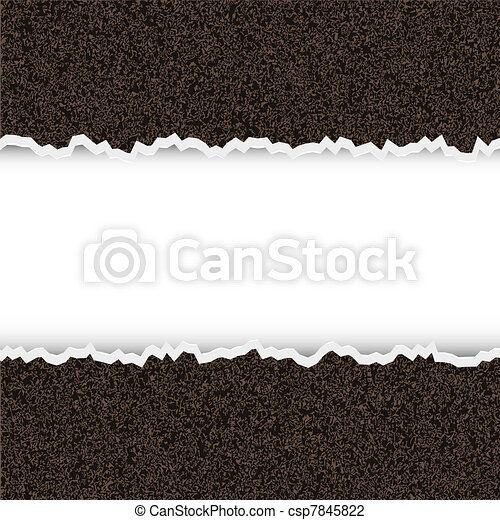 Vector torn piece of rough paper with place for your text - csp7845822