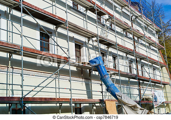 renovation of a residential building - csp7846719