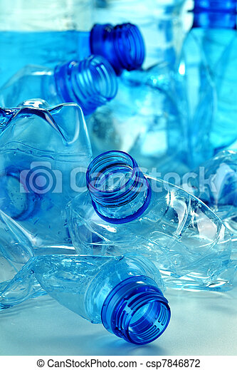 Composition with plastic bottles of mineral water - csp7846872
