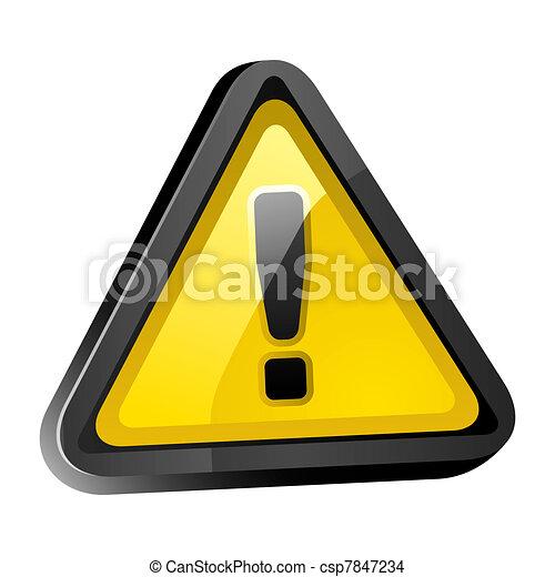 Hazard warning attention sign - csp7847234
