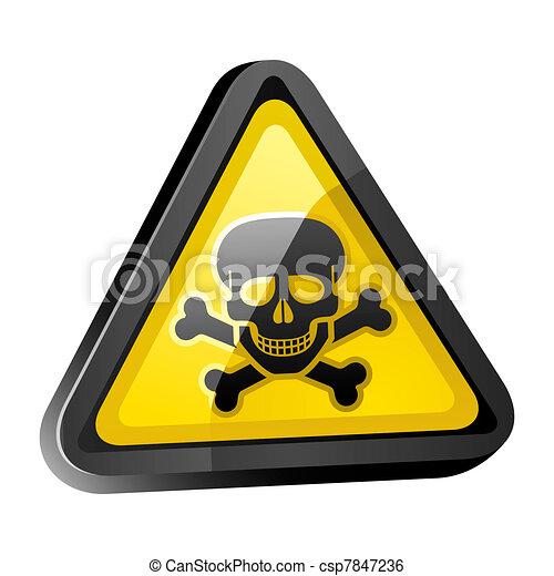 The skull is a warning sign dark - csp7847236
