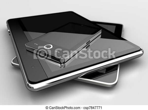 Mobile phone with digital tablets - csp7847771