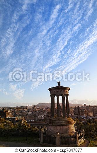 Carlton Hill and the city of Edinburgh - csp7847877